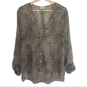 Urban Outfitters Pins & Needles Leopard Print Top